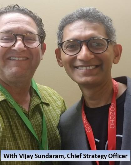 With Vijay Sundaram, Chief Strategy Officer