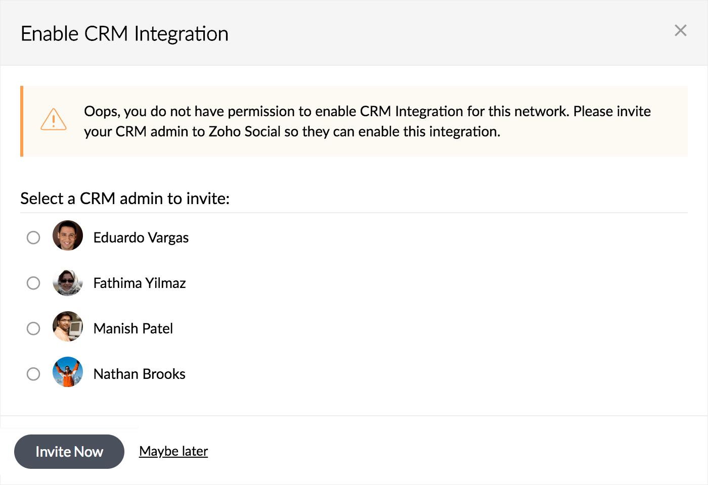 Zoho Social Integration with Zoho CRM
