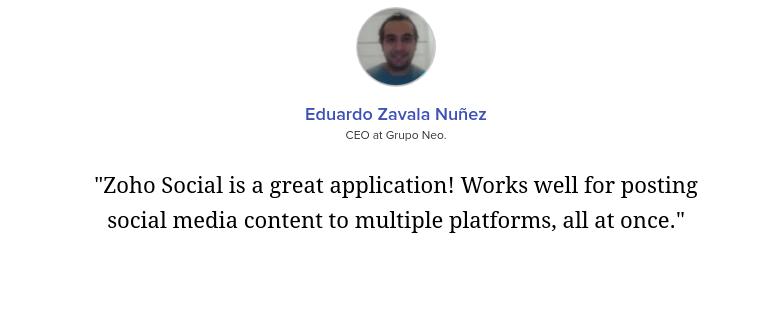 Zoho Social User Reviews