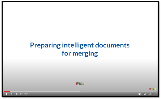 Preparing Documents for Merging