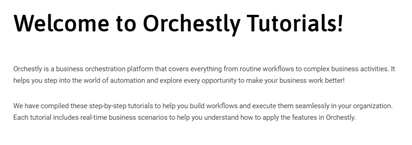 Welcome to Orchestly Tutorials