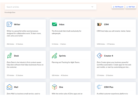 Zoho Knowledge Base