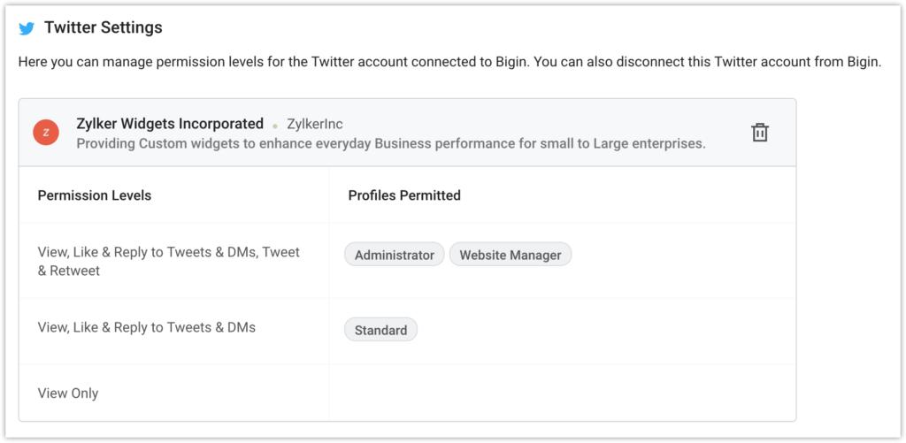 Configure Social Media with Bigin